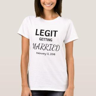 Personalized Legit Getting Married Bridal Shirt