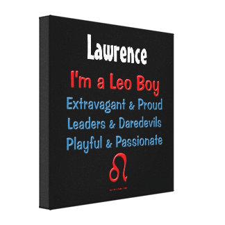 Personalized Leo Boy Zodiac Canvas Wrap Gallery Wrap Canvas