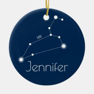 Personalized Leo Constellation Ornament