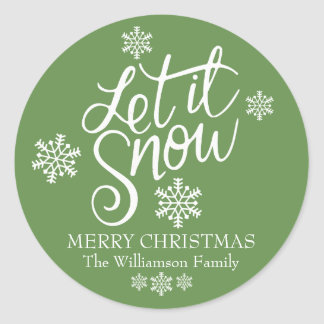 Personalized Let it Snow Christmas Envelope Seals