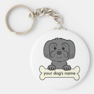 Personalized Lhasa Apso Key Ring