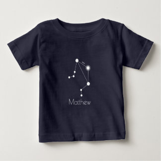 Personalized Libra Zodiac Constellation Baby T-Shirt