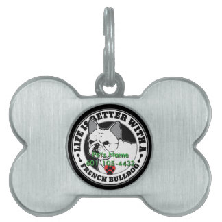 Personalized Life Is Better With A French Bulldog Pet Tag