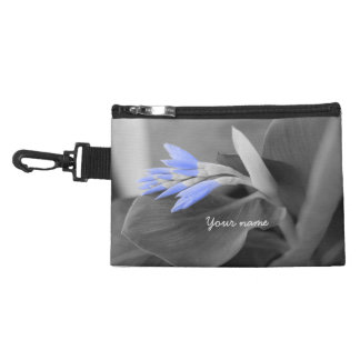Personalized Light Blue Buds selective color Accessory Bag