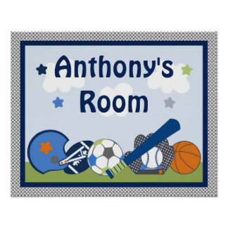 Personalized Lil/Little Sports Player Poster/Print Poster