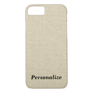 Personalized Linen Look Background iPhone 7 Case
