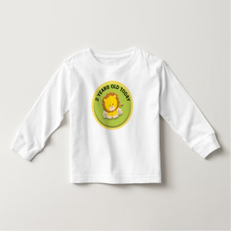 Personalized Lion Cub on Green Birthday Toddler T-Shirt