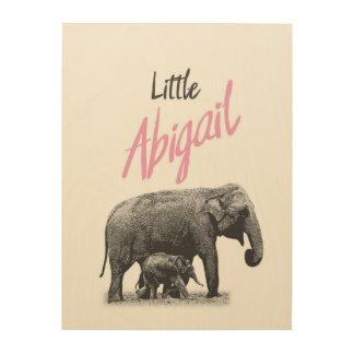 "Personalized ""Little Abigail"" Wood Wall Art"