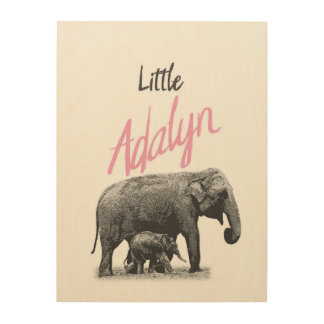 "Personalized ""Little Adalyn"" Wood Wall Art"