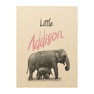 "Personalized ""Little Addison"" Wood Wall Art"