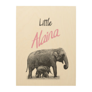 "Personalized ""Little Alaina"" Wood Wall Art"