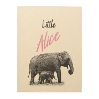 "Personalized ""Little Alice"" Wood Wall Art"