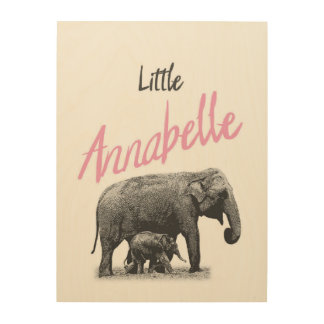 "Personalized ""Little Annabelle"" Wood Wall Art"