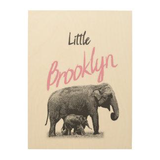 """Personalized """"Little Brooklyn"""" Wood Wall Art"""