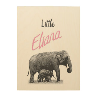 "Personalized ""Little Eliana"" Wood Wall Art"