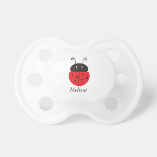 Personalized Little Ladybug Baby Pacifier