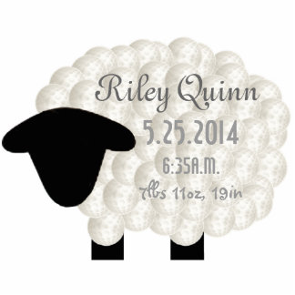 Personalized Little Lamb Acrylic Sculpture Acrylic Cut Outs