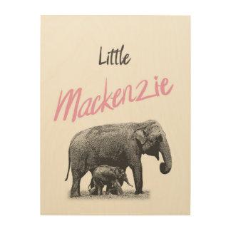"Personalized ""Little Mackenzie"" Wood Wall Art"