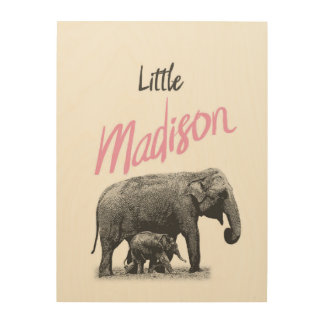 "Personalized ""Little Madison"" Wood Wall Art"
