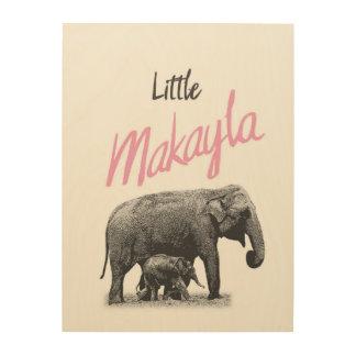 """Personalized """"Little Makayla"""" Wood Wall Art"""