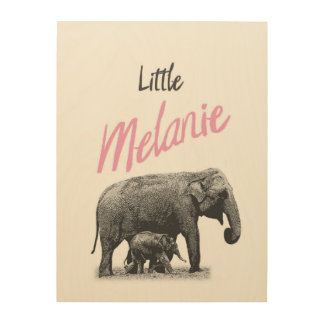 "Personalized ""Little Melanie"" Wood Wall Art"