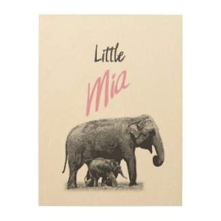"Personalized ""Little Mia"" Wood Wall Art"