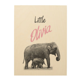 "Personalized ""Little Olivia"" Wood Wall Art"
