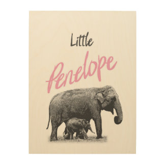 "Personalized ""Little Penelope"" Wood Wall Art"
