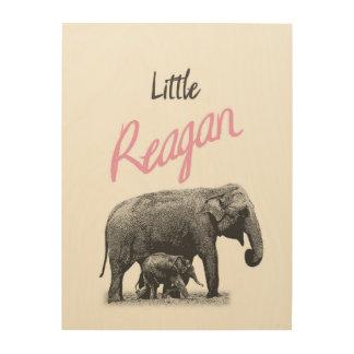 "Personalized ""Little Reagan"" Wood Wall Art"