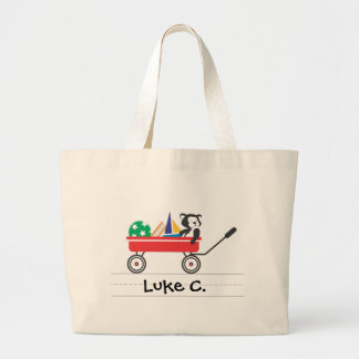 Personalized Little Red Wagon Tote Jumbo Tote Bag