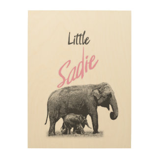 "Personalized ""Little Sadie"" Wood Wall Art"