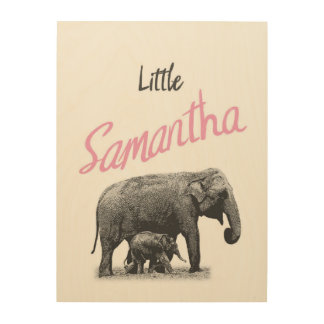 "Personalized ""Little Samantha"" Wood Wall Art"
