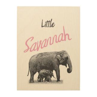 "Personalized ""Little Savannah"" Wood Wall Art"