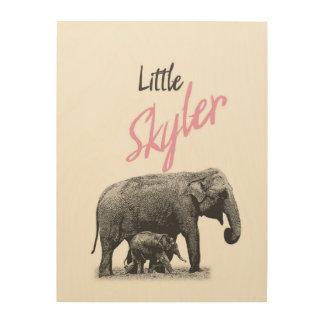 """Personalized """"Little Skyler"""" Wood Wall Art"""