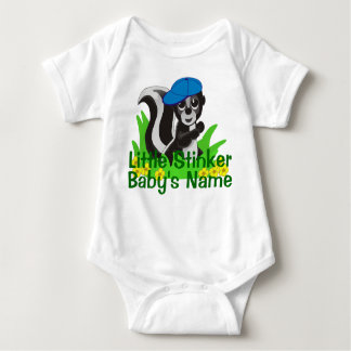 Personalized Little Stinker Boy Baby Bodysuit
