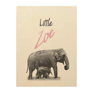 "Personalized ""Little Zoe"" Wood Wall Art"