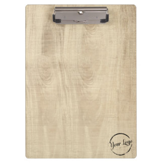 Personalized logo light woodgrain clipboard