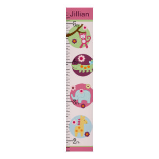 Personalized Lollipop Jungle/Animals Growth Chart