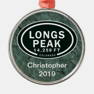 Personalized Longs Peak CO Mountain Ornament