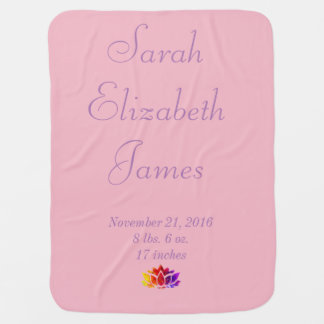Personalized Lotus Baby Blanket
