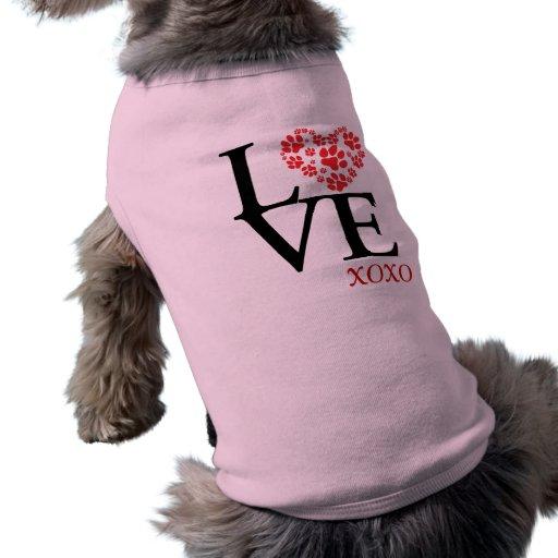 Personalized LOVE & Kisses Pet T Shirt