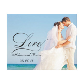 Personalized Love Newlywed Keepsake Gallery Wrapped Canvas