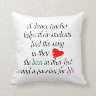 Personalized Love to Teach Dance - Dance Recital Cushion