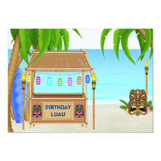 Personalized Luau Birthday Invitation