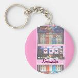 Personalized Lucky Slot Machine Keychain Pink Key Chain