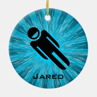 Personalized Luge Ornament