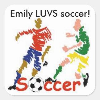 Personalized LUVS soccer sticker