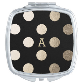 Personalized | Luxe Dots Compact Mirror