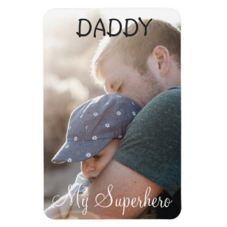 Personalized Magnet: Daddy My Superhero Rectangular Photo Magnet
