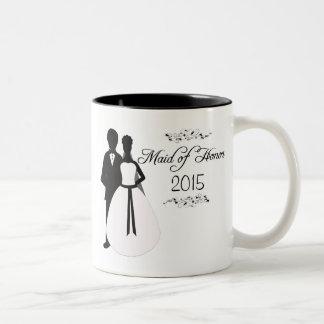 Personalized maid of honor swirl wedding favor mug
